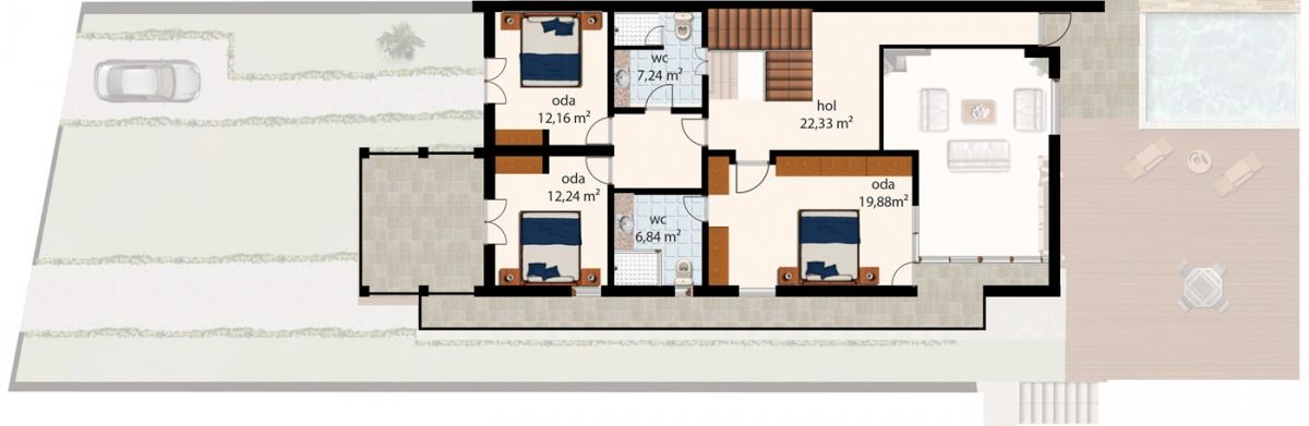 plan 20m2 excellent plan 20m2 with plan 20m2 trendy. Black Bedroom Furniture Sets. Home Design Ideas