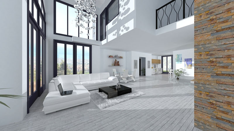 Spacious and bright interior